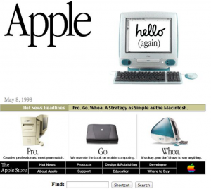 The Apple Website in 1999