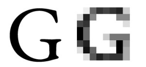 Garamond Pixelization