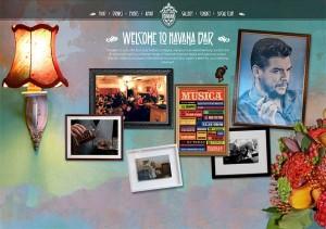 Havana Bar, a great example of a skeoumorphic web design.