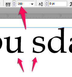 Kerning in InDesign