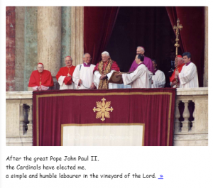 The Pope in Comic Sans