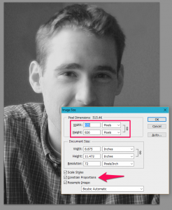 Properly Resizing a Photo in Photoshop