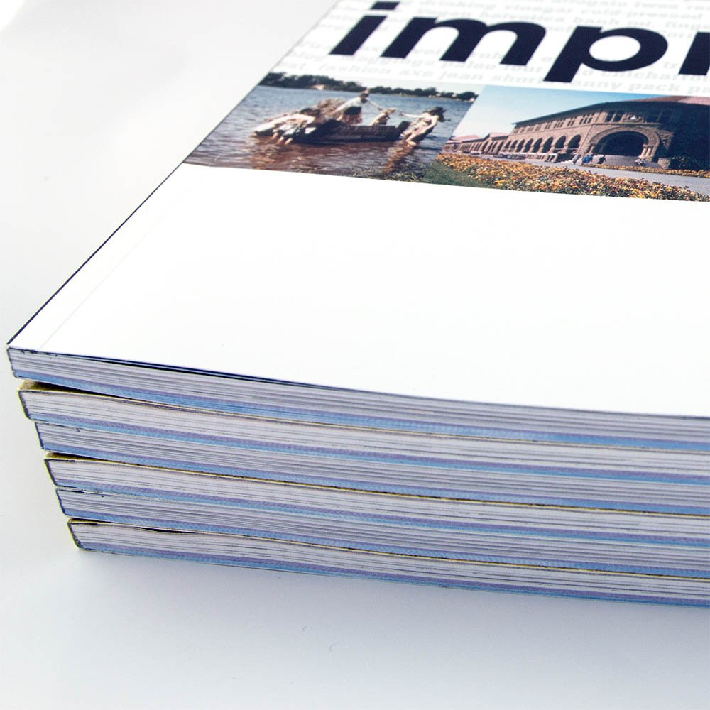 Image of perfect bound magazines and catalogs