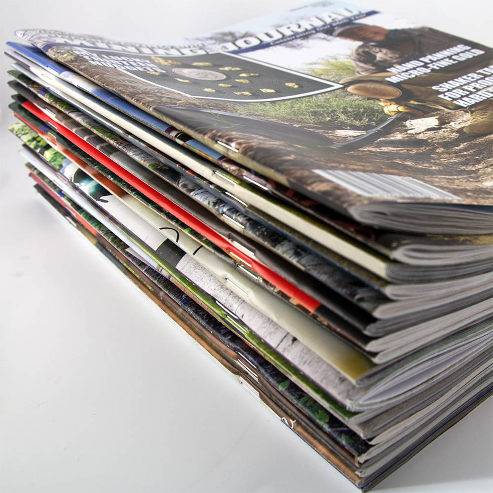 Image of saddle stitched magazines and catalogs
